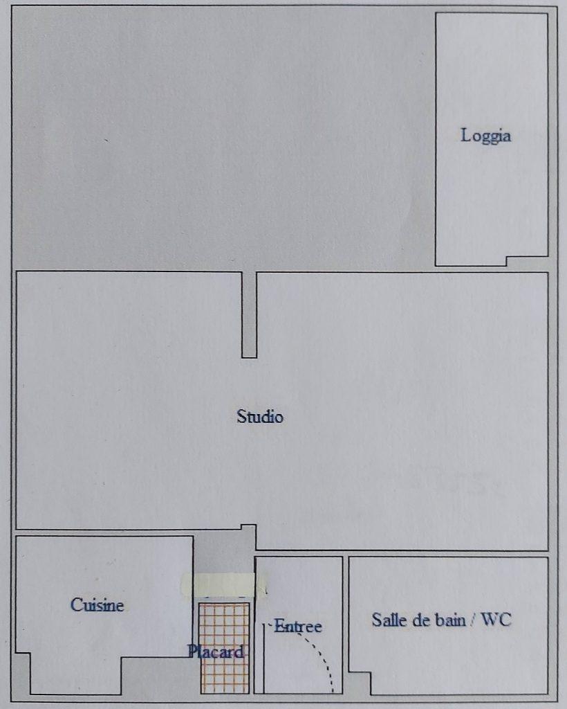 Grand Studio à Chatou avec Loggia fermée (Réf 914)